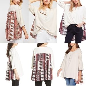 Free People Cool Baby Floral Oversized Pullover